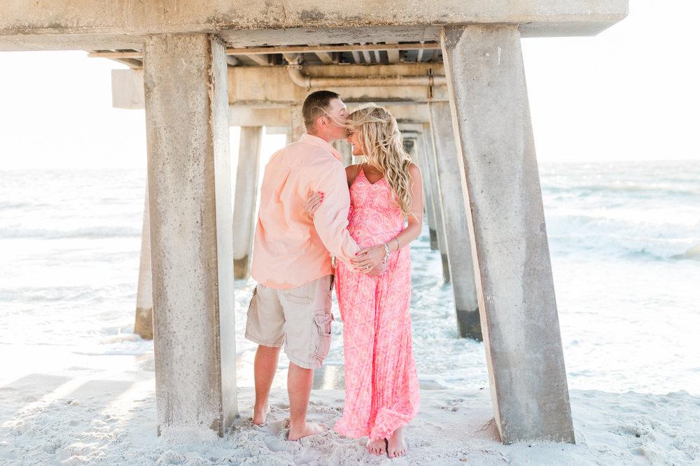 Fort Myers beach maternity photos