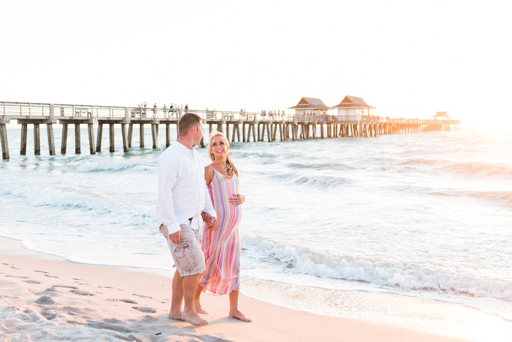 Bonita Springs beach maternity photos
