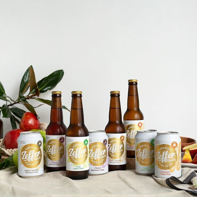 We loved capturing the new look that our friends at @zeffercider have launched this week! Looking super fresh guys! #zeffercider #content&co #applecider ☀️🍎🍻📸