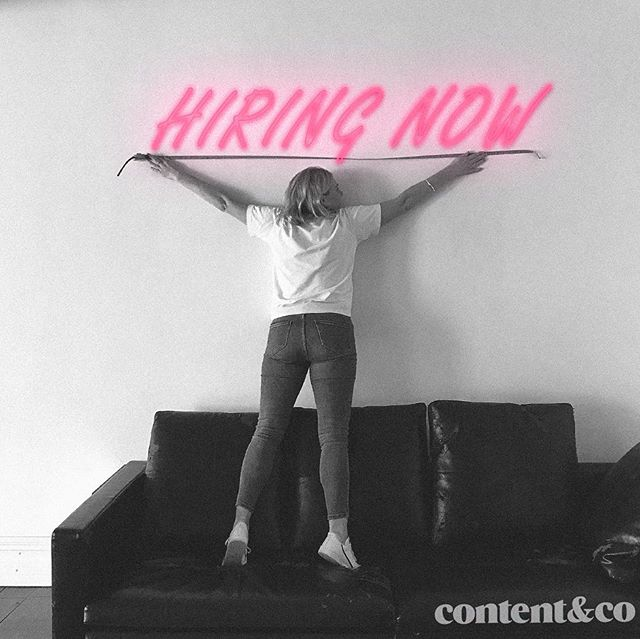We've been a little quiet on here however we do have some exciting news - we have made the move to a fresh new space, have filled a couple of seats and are now looking to fill a couple more. That's right we're hiring and we would love to hear from you. Head to the link in our bio for further details. #content&co #JNRdigitalcampaignmanager #JNRphotographer&editor