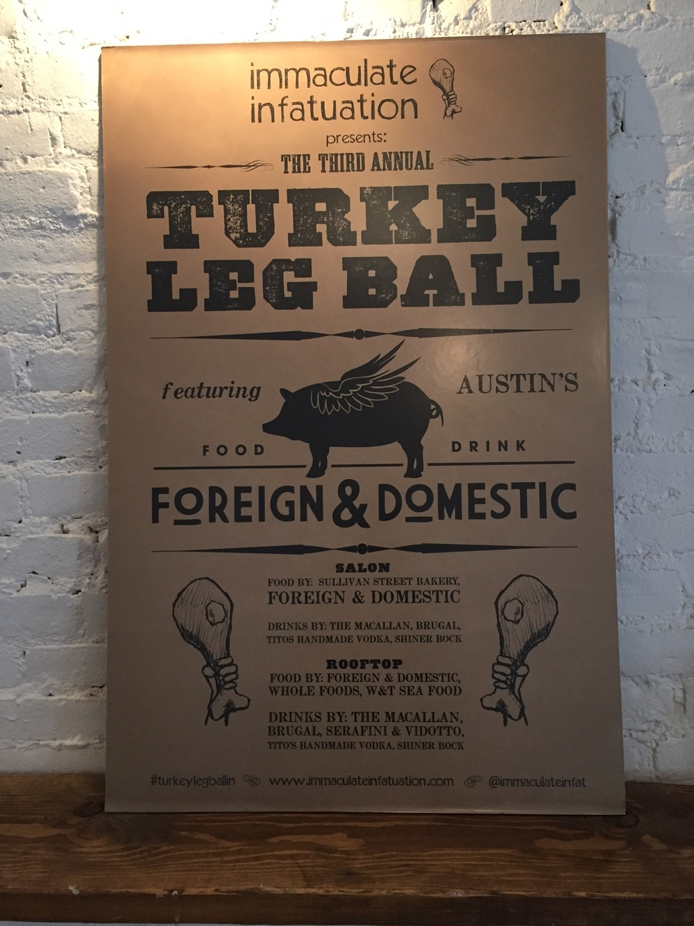 A Turkey Leg Ball Poster From The Early Days