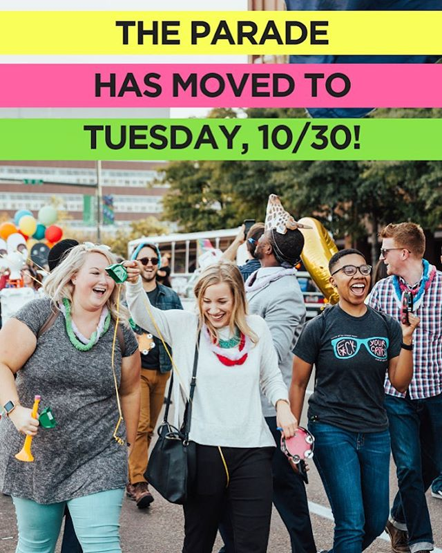 """Due To The Weather..."" The @StartupWeekCHA Parade will be Tuesday, October 30th! Tell a friend to tell a friend! #StartupWeekCHA #COLAB #TheCompanyLab #AtTheEdney"
