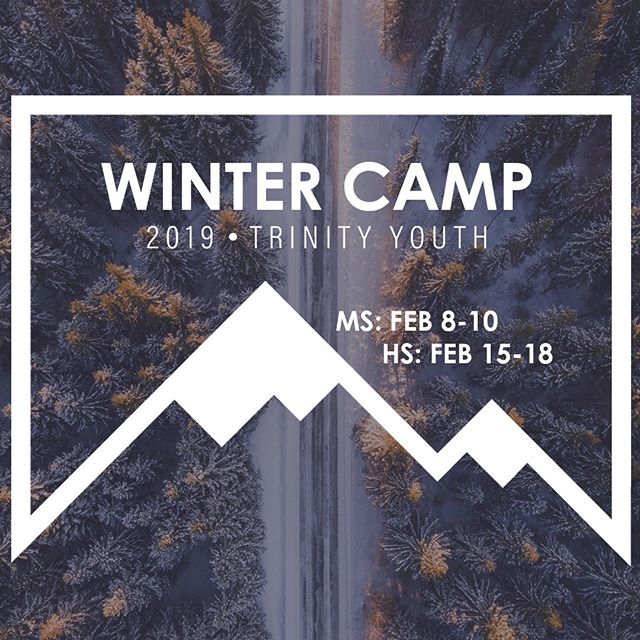 The last day to register for MS & HS Winter Camp is this Sunday, Feb 3rd! Find the link in our bio for more info. #trinityw2