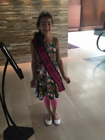 Kristina arriving at the 2016 National Miss Amazing Pageant in Chicago, IL.