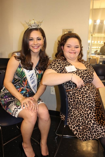 Check out this gorgeous pair!  Jeannie hanging out with Pageant Guest Miss New York 2015 Jamie Macchia!