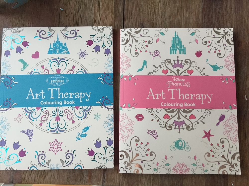 Disney Frozen And Princess Art Therapy Colouring Books