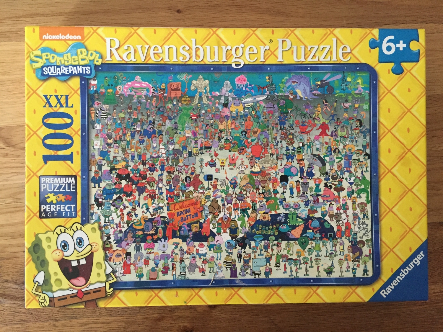 We were recently sent the Ravensburger SpongeBob Squarepants 100 XXL piece jigsaw puzzle for review. Jacob is a big SpongeBob Squarepants fan, and he loves puzzles, so he was super excited to receive the latest one from Ravensburger.