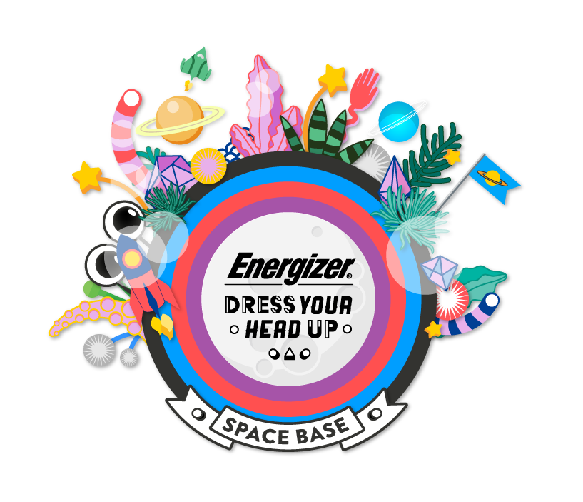 Each year, Energizer runs a 'Dress Your Head Up' stall at Bestival, encouraging families to stay safe with head torches, but giving them great materials to decorate them. If you search the hashtag #dressyourheadup you will see some fab and fun Dress Your Head Up photos, where people have joined in on decorating their very own Energizer head torch.  Unfortunately, we didn't go to Camp Bestival this year, but the lovely people from Energize sent has a hamper with all the items needed including some Energizer batteries, to make our very own decorated head torch.