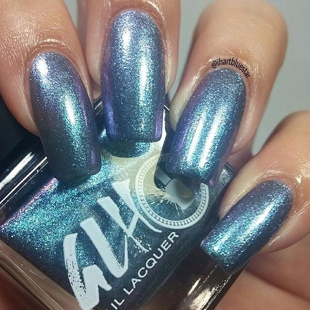 We love the fun color Chamaeleon! Thank you @ihartbluestar #fivefree #vegannailpolish #vegan #nailpolishaddict #nailswag #nailbloggers #nailtech #nailtrends #glhnaillacquer #nailpolish