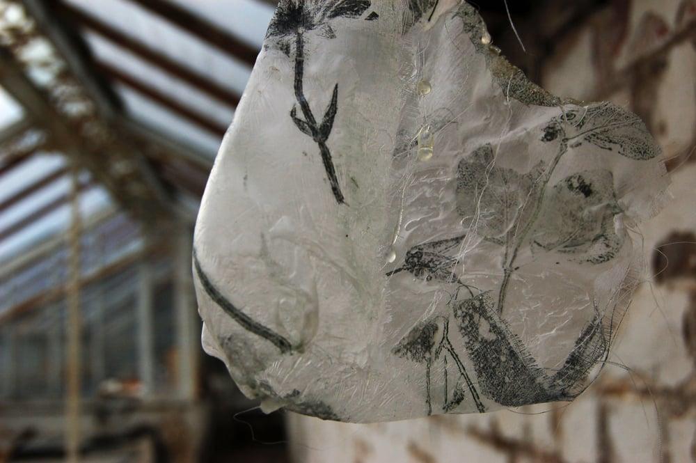 mixed media on silk 2010