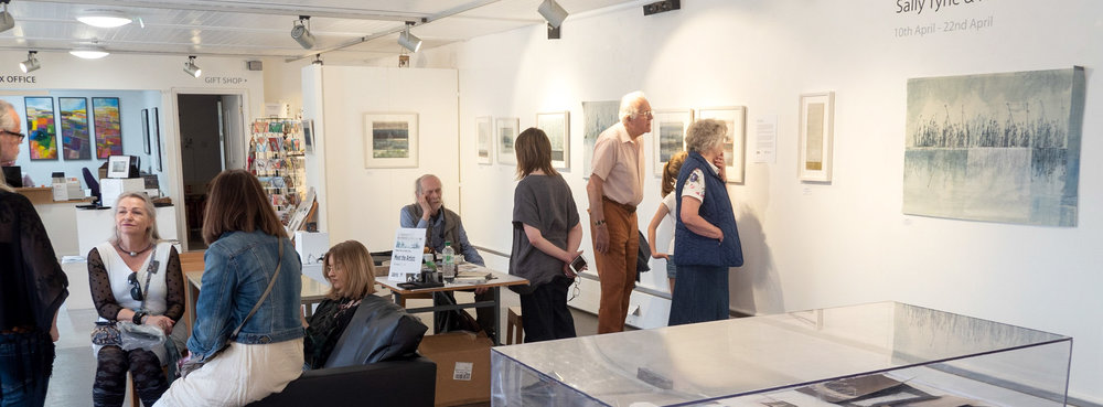 Meet the Artists, Sunday 22nd April 2018   The meet the Artist events at the Gallery and the reserve also gave us the opportunity to chat to some of our visitors and talk about the themes and inspiration behind our work.