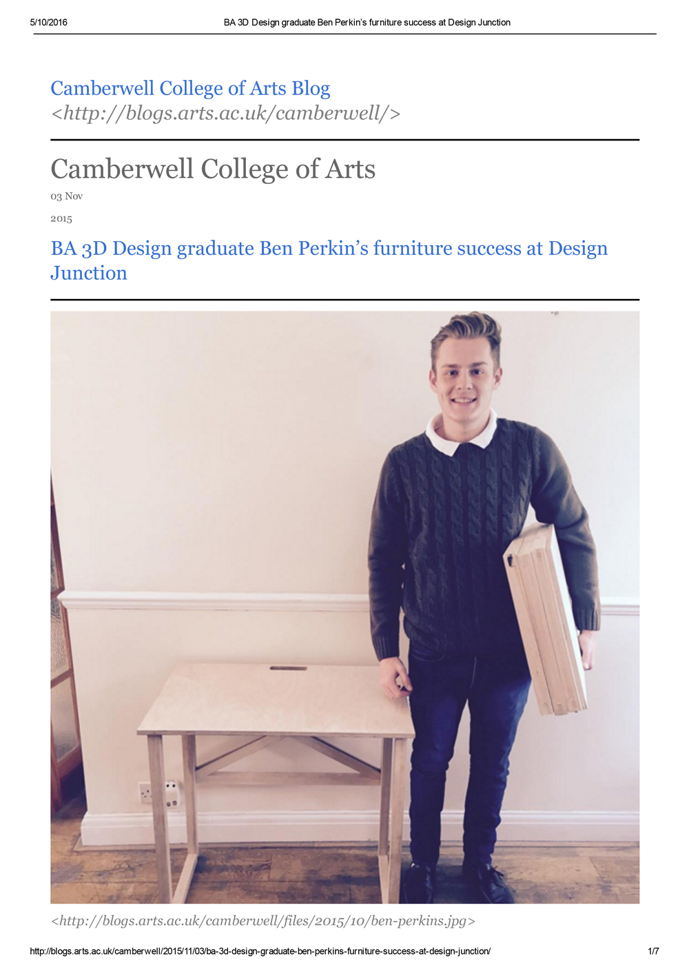 BA 3D Design graduate Ben Perkin's furniture success at Design Junction-1.jpg