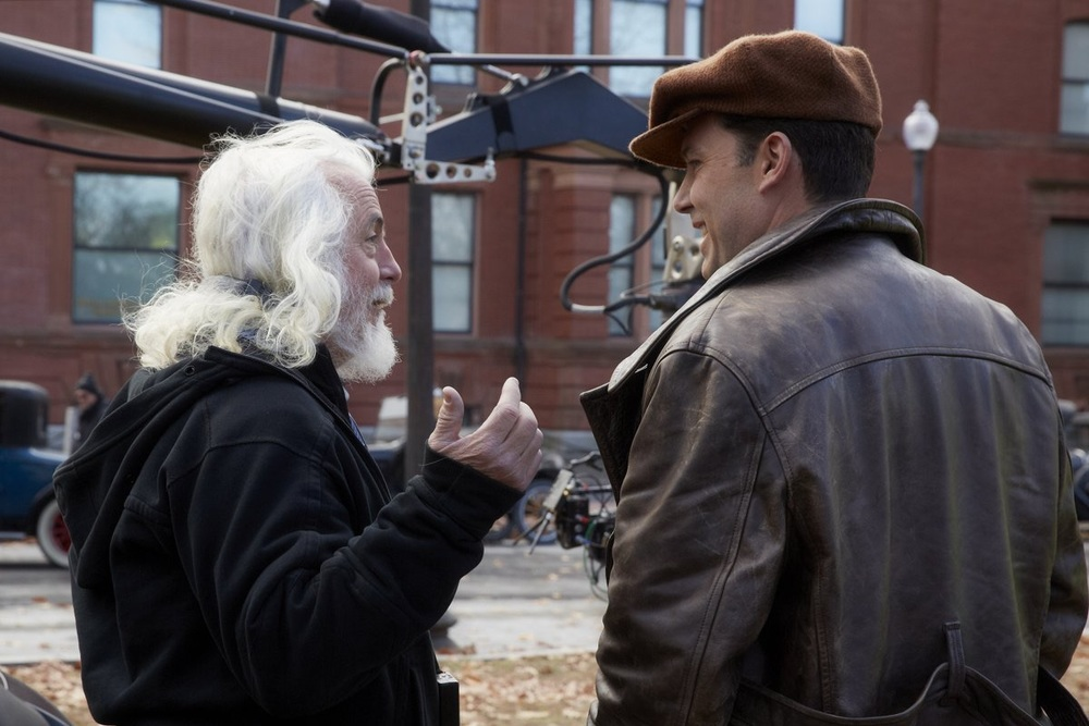Meeting of the minds: Cinematographer Robert Richardson and Ben Affleck, enjoying a laugh on set, between takes.