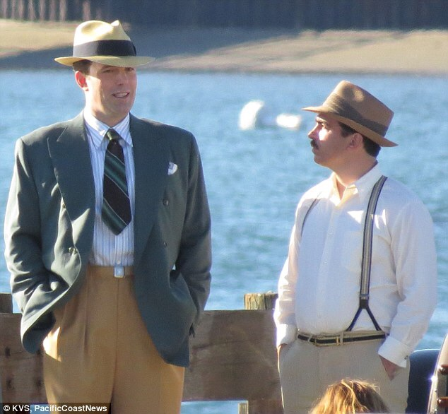 Ben and Chris filming a scene on location in Boston.