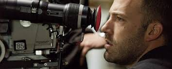 Affleck setting up a shot.