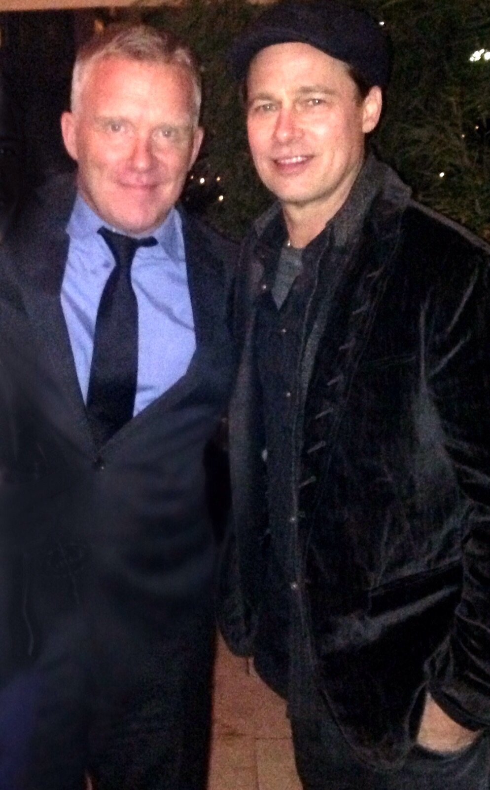 Me and Mr. Pitt @ the wrap party for 'War Machine.'Berlin, Germany 11/21/15.