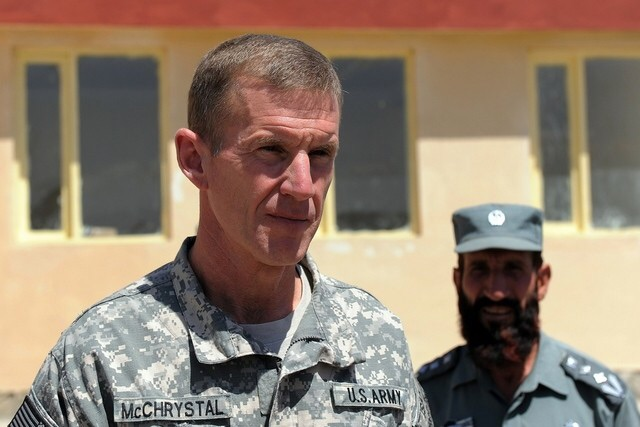 General Stanley McChrystal. the retired United States General who led U.S. forces on missions in the Iraq and Afghanistan wars.