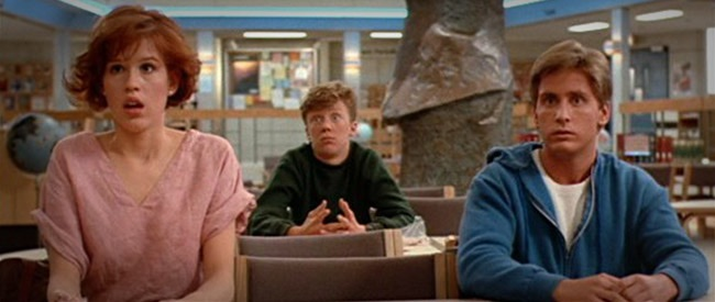 Molly Rigwald, Anthony Michael Hall and Emilio Estevez.