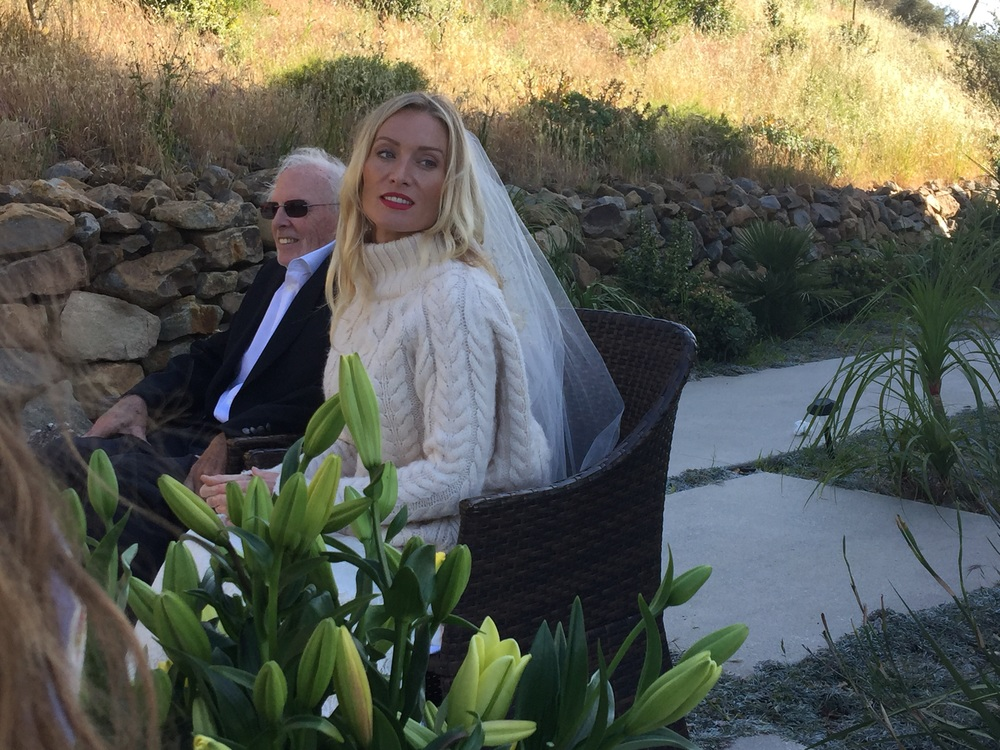 Wedding Day: Bruce Dern and Victoria Smurfit between takes on set. (photo:AMH)