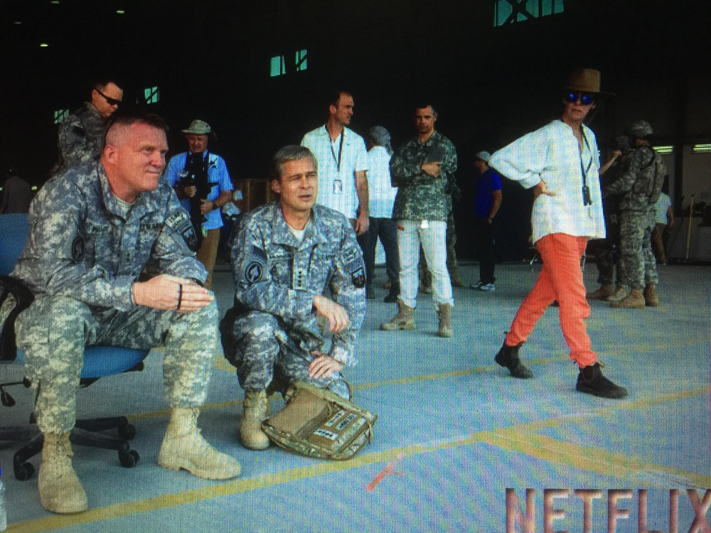 On Location in the U.A.E. - Anthony Michael HALL and Brad PITT filming 'War Machine', Abu Dhabi, U.A.E. -  Sept, 2015.