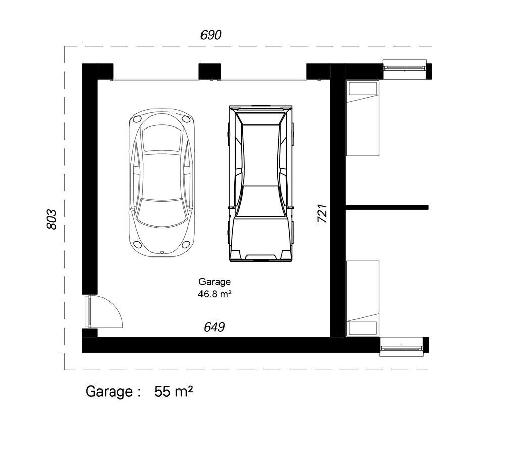 Lukket garage-  Hent plantegning (PDF)