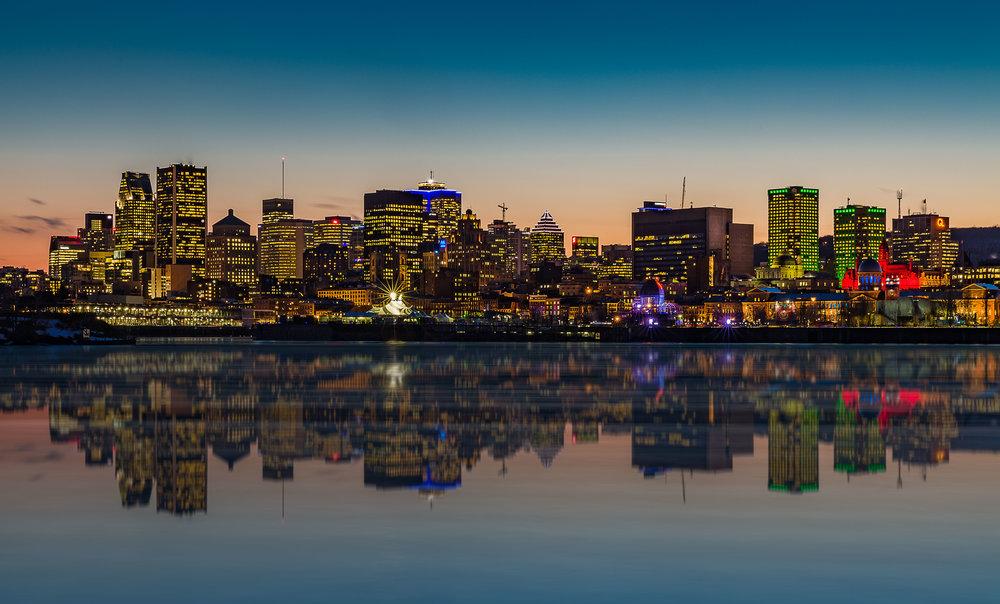 Montreal Skyline - Parc Jean Drapeau