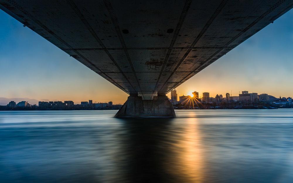Montreal Skyline - Pont de la Concorde