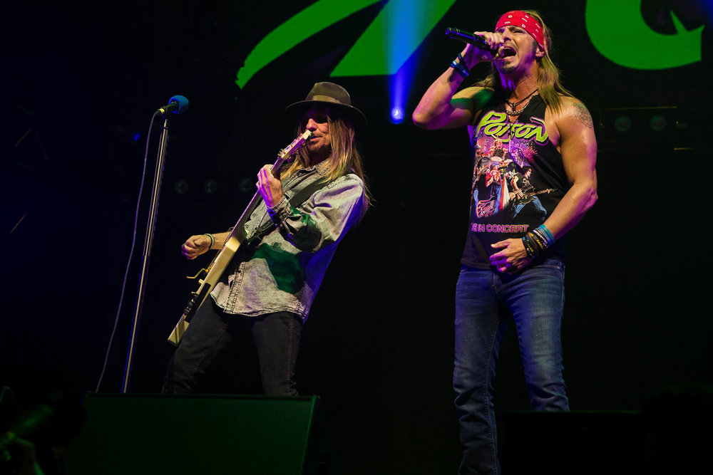 Poison Performing at the Bell Center in Montreal