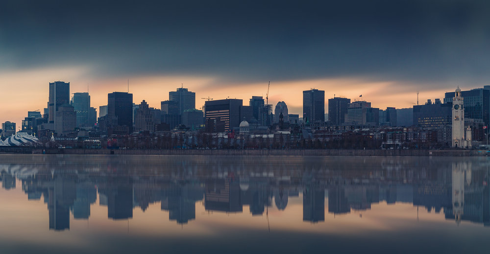 Montreal Skyline During a Sunset