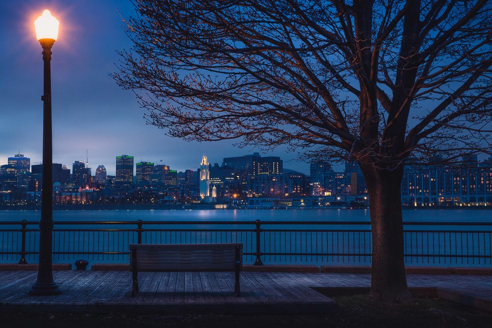 Overlooking the Old Port of Montreal