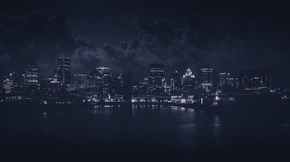 Montreal Skyline-Night-Captura Camera