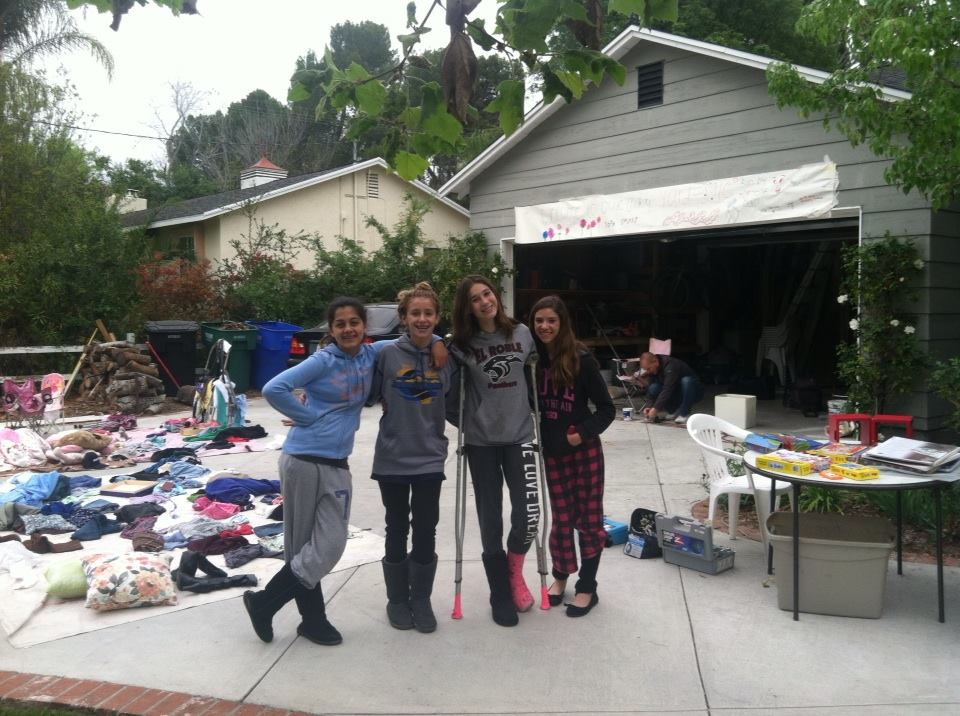 Charlotte and her friends hosted a yard sale.