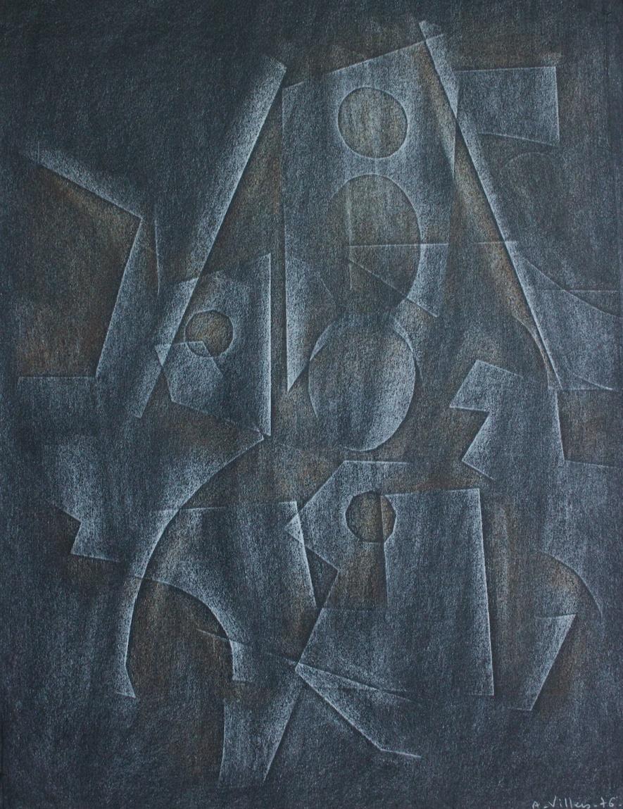 Composizione astratta - tecnica mista su carta - 50x70 cm.  1970/76