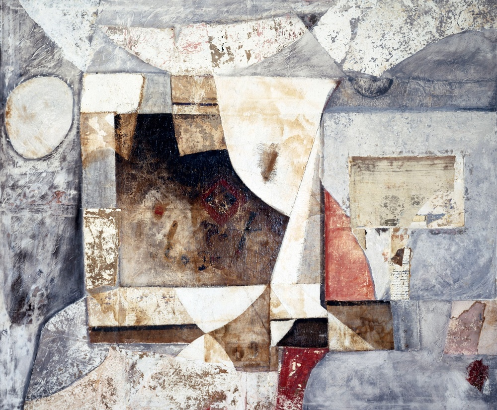 Armonia della Forma Archetipa (Archetypal Shape Armony) - tecnica mista e collage su tela (mixed media and collage on canvas) - 1978/1983