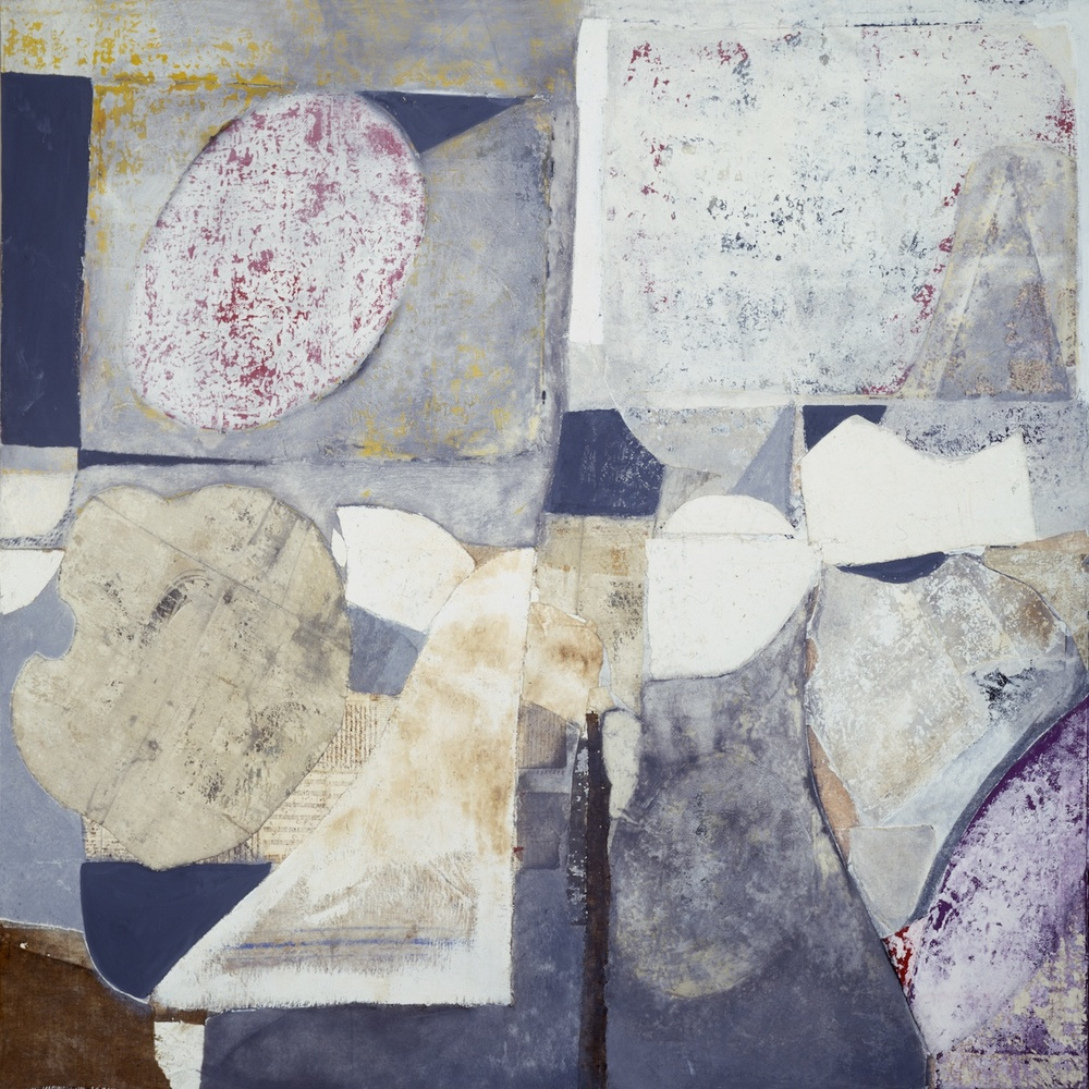Armonia della Forma Archetipa (Archetypal Shape Armony) - tecnica mista e collage su tela (mixed media and collage on canvas) - 1978/1980