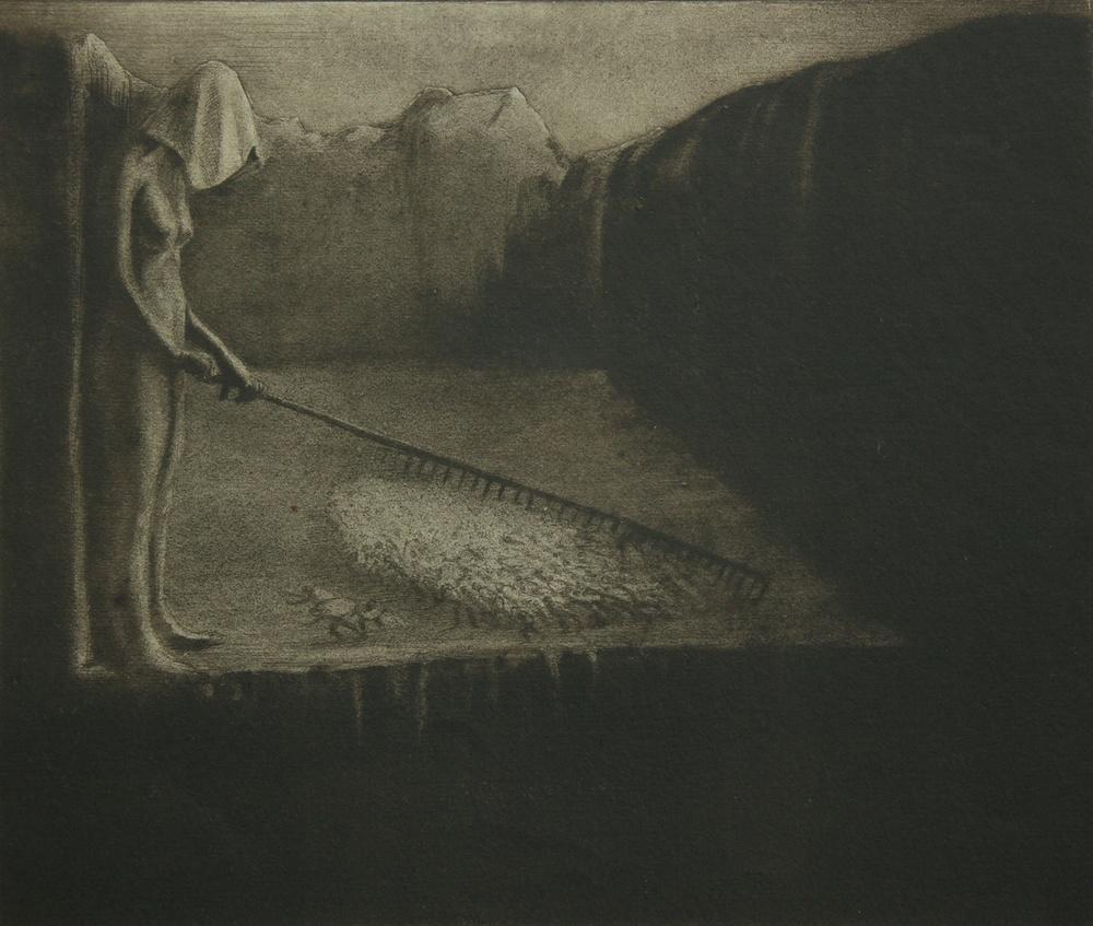 Das Menschenschicksal - 1903 - Collografia - Collagraphy
