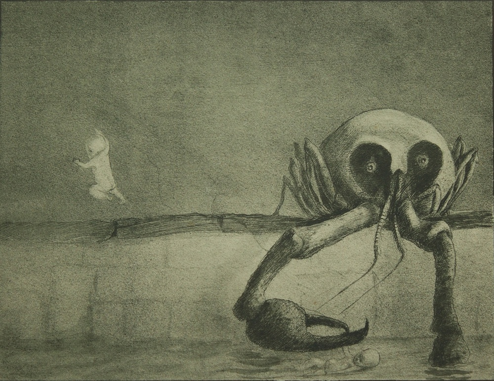Die Stunde Der Geburt - collagraphy (collografia) - 1903