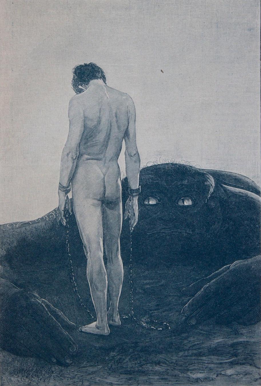 Das Gefuehl der Abhaengigkeit - wood engraving (incisione) - 1894/95