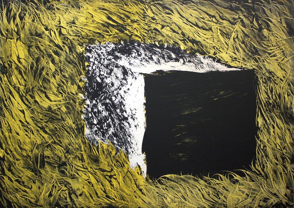 """Un pezzo di """"sugar-baby"""" su campo-pelliccia - A piece of """"sugar-baby"""" on field-fur / litografia su carta - lithography on paper. 1971"""
