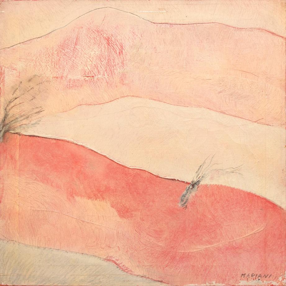 Landscape (Paesaggio Antropomorfo) / olio su tavola - oil on board, 1970