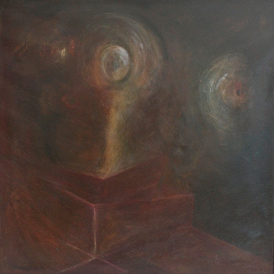Umanoidi (Humanoids) - olio su tela (oil on canvas) - 1970