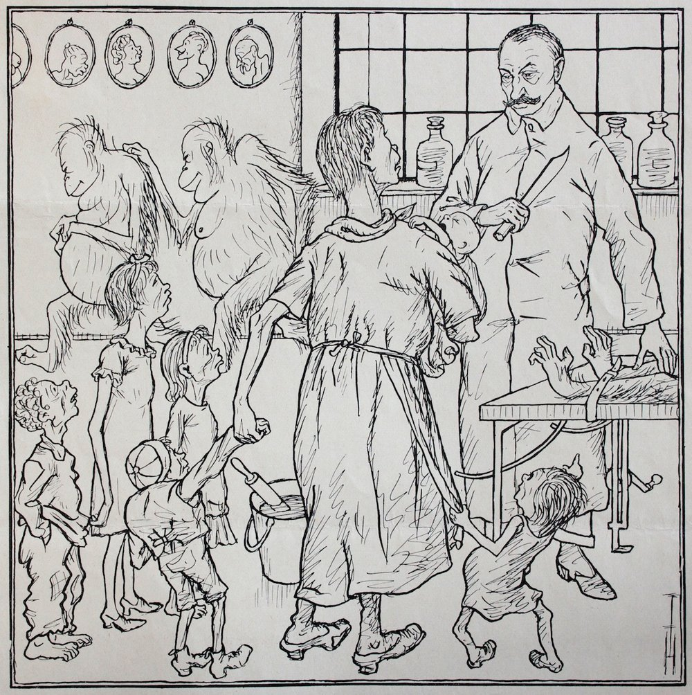 Thomas Theodor Heine / Bei Professor Voronoff (With Professor Voronoff) / Lithograph on paper (Litografia su carta) / 1926