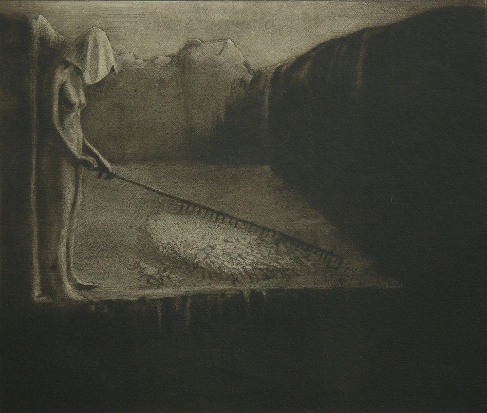 Alfred Kubin / Das Menschenschicksal (The human fate) / Collagraphy (Collografia) / 1903