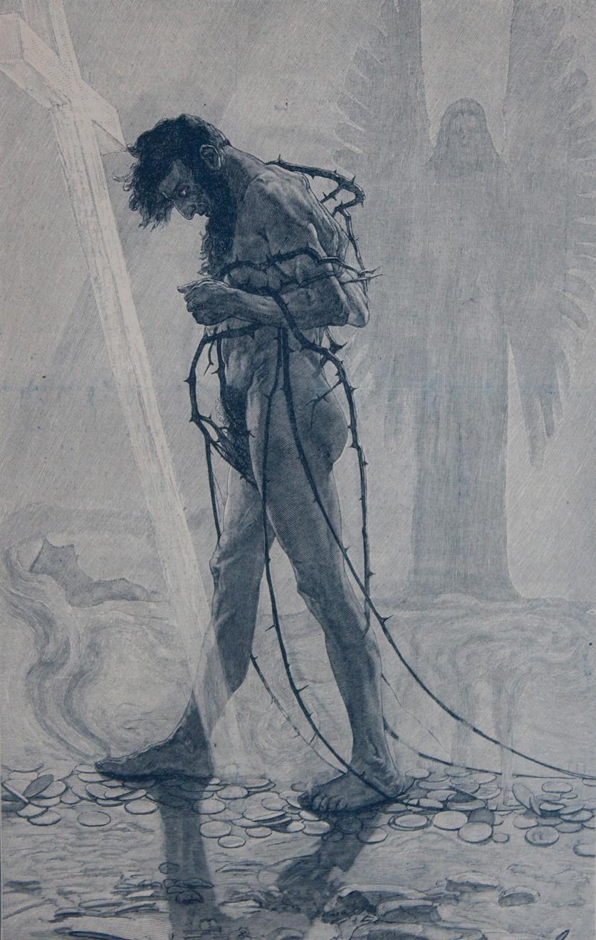 Sascha Schneider - Sascha Schneider nasce nel 1870 a San Pietroburgo.Nel 1889 entra all'Accademia di Belle Arti (Kreuzgymnasium) di Dresda. Nel 1903 incontra il famoso scrittore Karl Maye realizza le illustrazioni delle copertine dei suoi libri Winnetou,Old Surehand,Am Rio de la Plata.Nel 1904 viene nominato professore alla Großherzoglich-Sächsische Kunstschule di Weimar. Durante questo periodo vive assieme al pittore Hellmuth Jahn.Jahn inizia a ricattare Schneider minacciandolo di rendere pubblica la sua omosessualità, che era punibile penalmente.Schneider decide allora di trasferirsi in Italia, dove l'omosessualità non era considerata reato. Qui Schneider incontra il pittore Robert Spiescon il quale intraprende un viaggio nelle montagne della catena del Caucaso. Vive a Lipsia prima di ritornare in Italia, stabilendosi a Firenze. All'inizio della prima guerra mondiale, Schneider torna in Germania e fonda l'istituto Kraft-Kunstper il body building Alcuni dei modelli delle sue opere pittoriche erano frequentatori della palestra.Schneider,affetto da diabete mellito, viene colpito da un coma diabetico durante un viaggio in nave. Muore poco tempo dopo a Swinemünde.