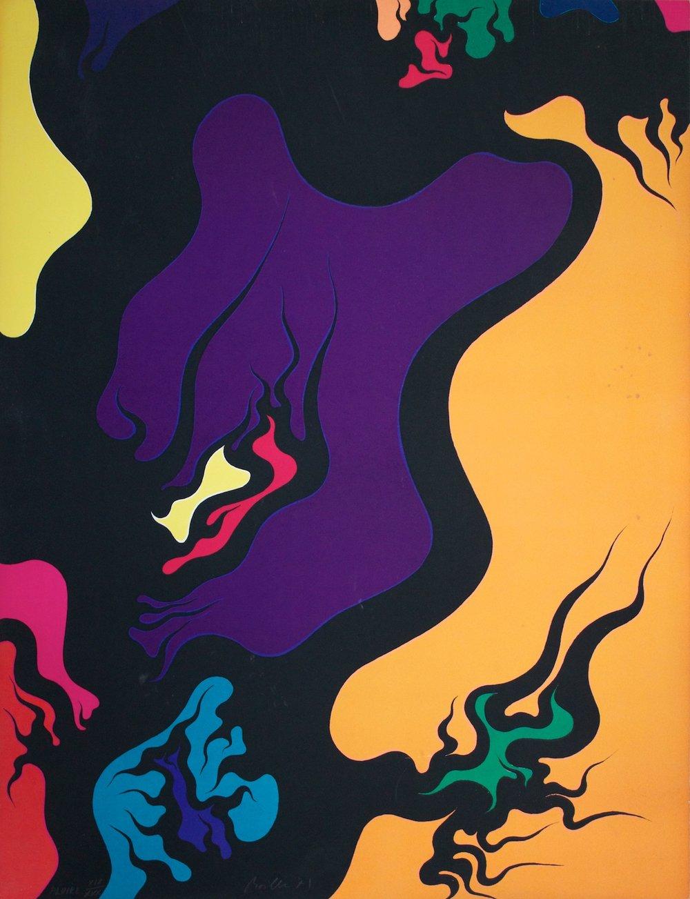 Luigi Boille - Fluire - Lithograph on paper - 1971