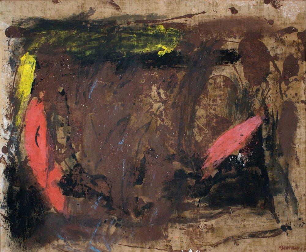 Marcello Mariani - Senza Titolo - Oil and mixed media on canvas - 1959