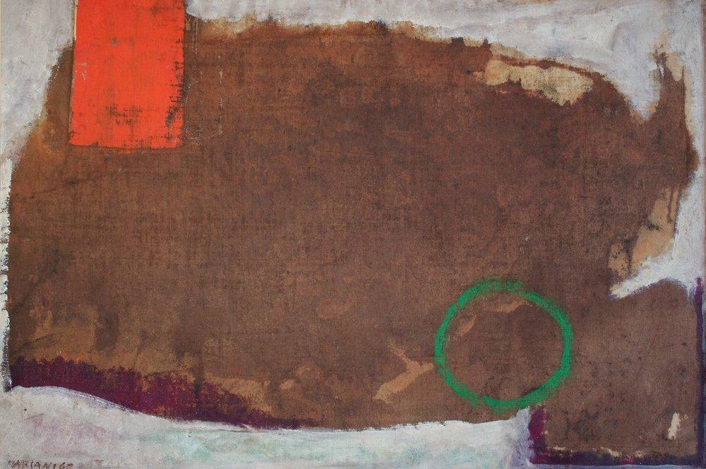Marcello Mariani - Spazialità Cellulare - Oil and mixed media on canvas - 1960