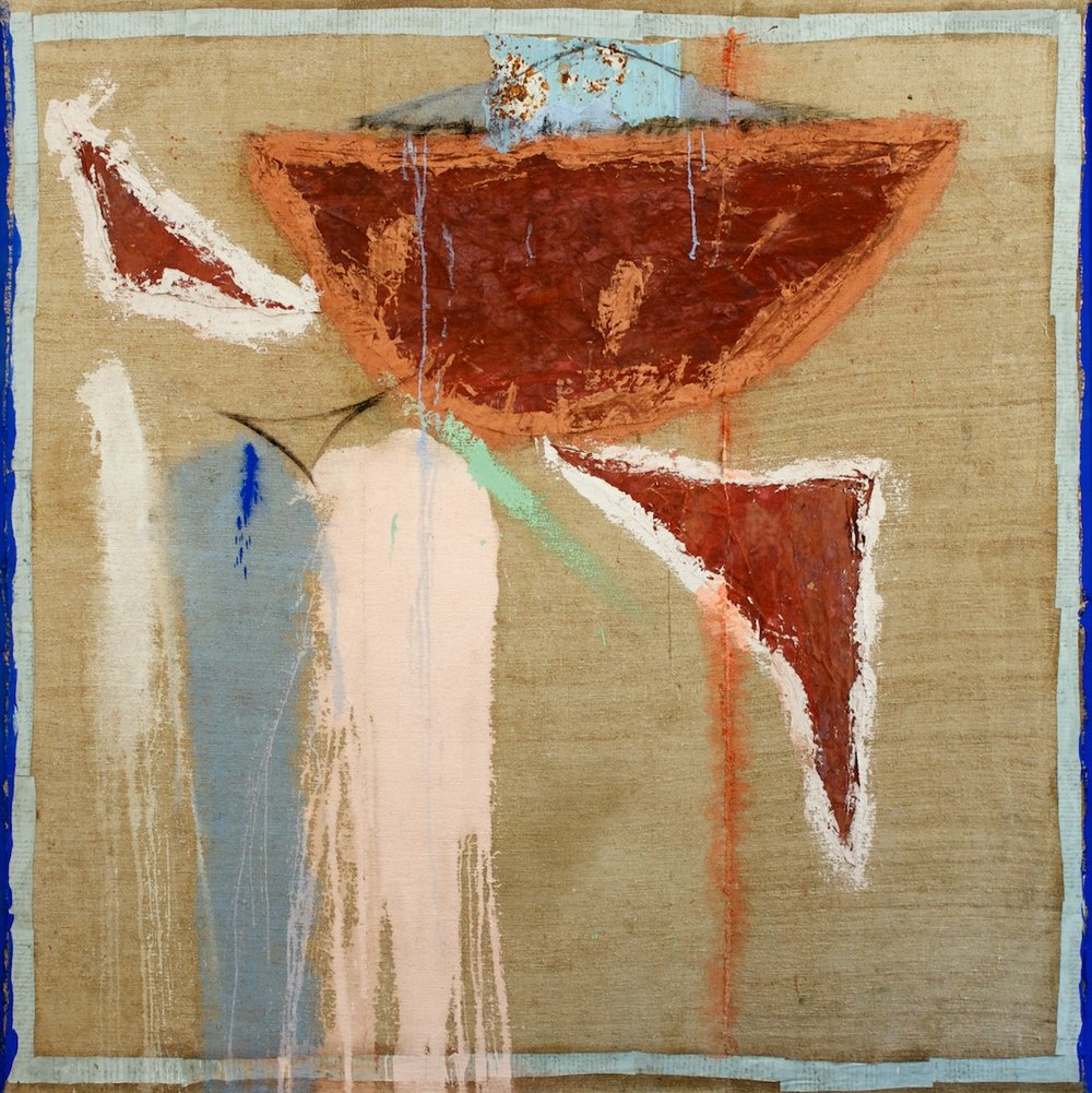 Marcello Mariani - Angelo D'Ombra - Collage, Oil and mixed media on canvas - 2006