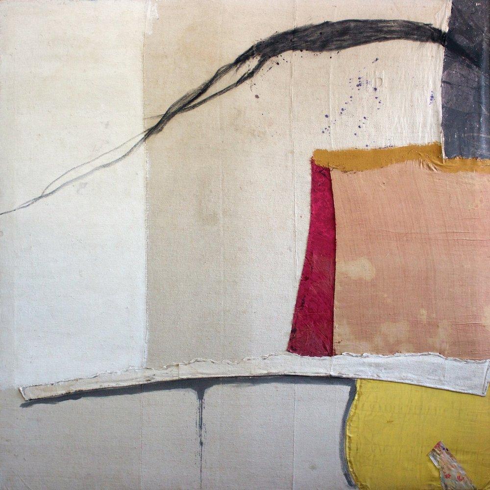 Marcello Mariani - Armonia della Forma Archetipa - Mixed media and collage on ancient canvas - 1980