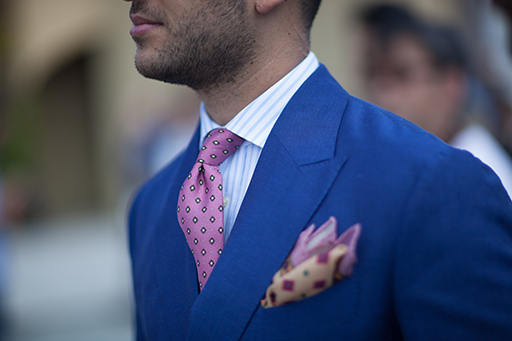 Everyday elegance is in the details. Monsieur Fox tie and square combination
